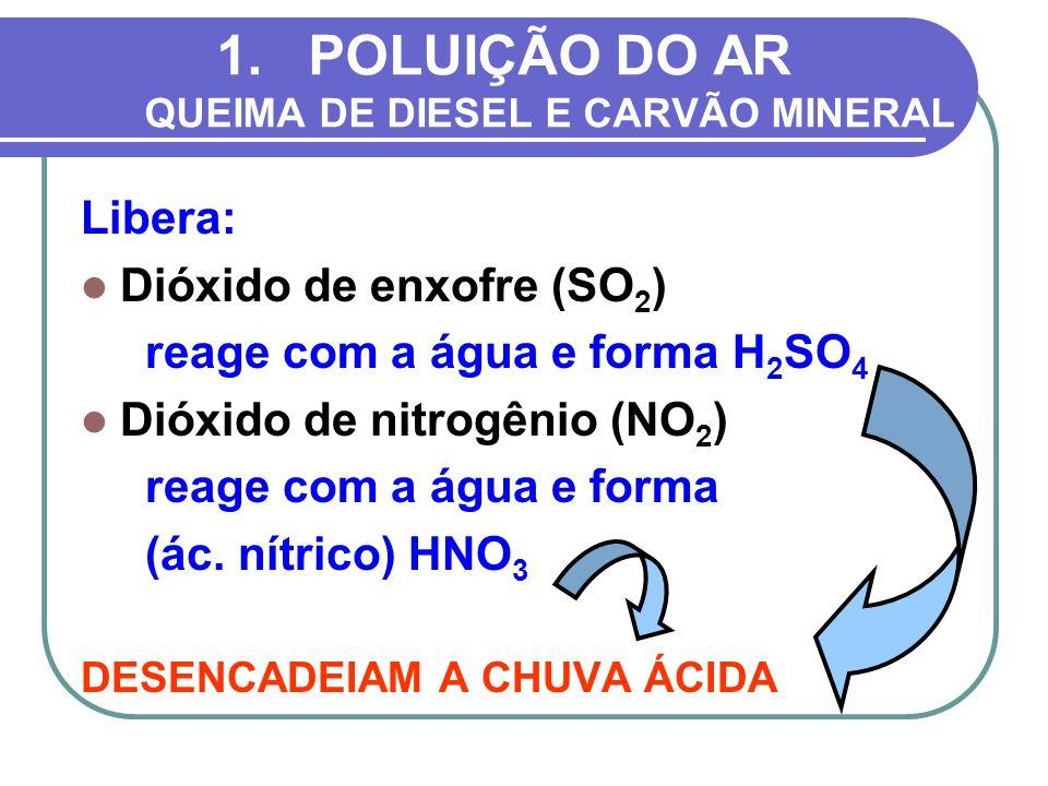 POLUIÇÃO DO AR QUEIMA DE DIESEL E CARVÃO MINERAL