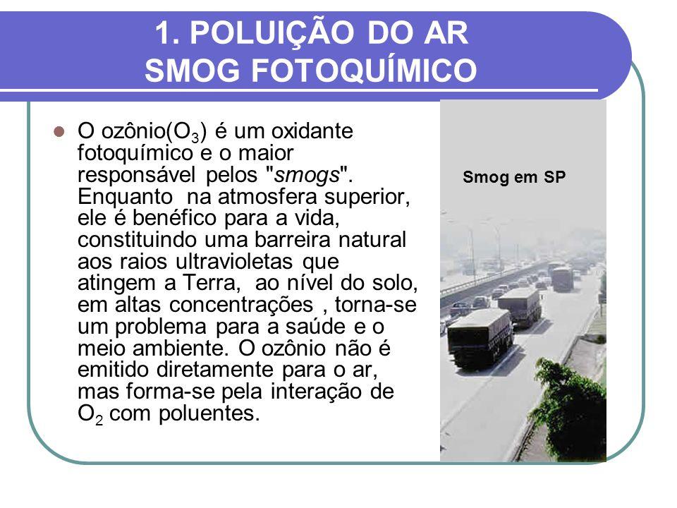 1. POLUIÇÃO DO AR SMOG FOTOQUÍMICO