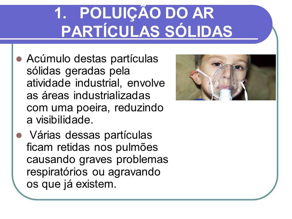 POLUIÇÃO DO AR PARTÍCULAS SÓLIDAS