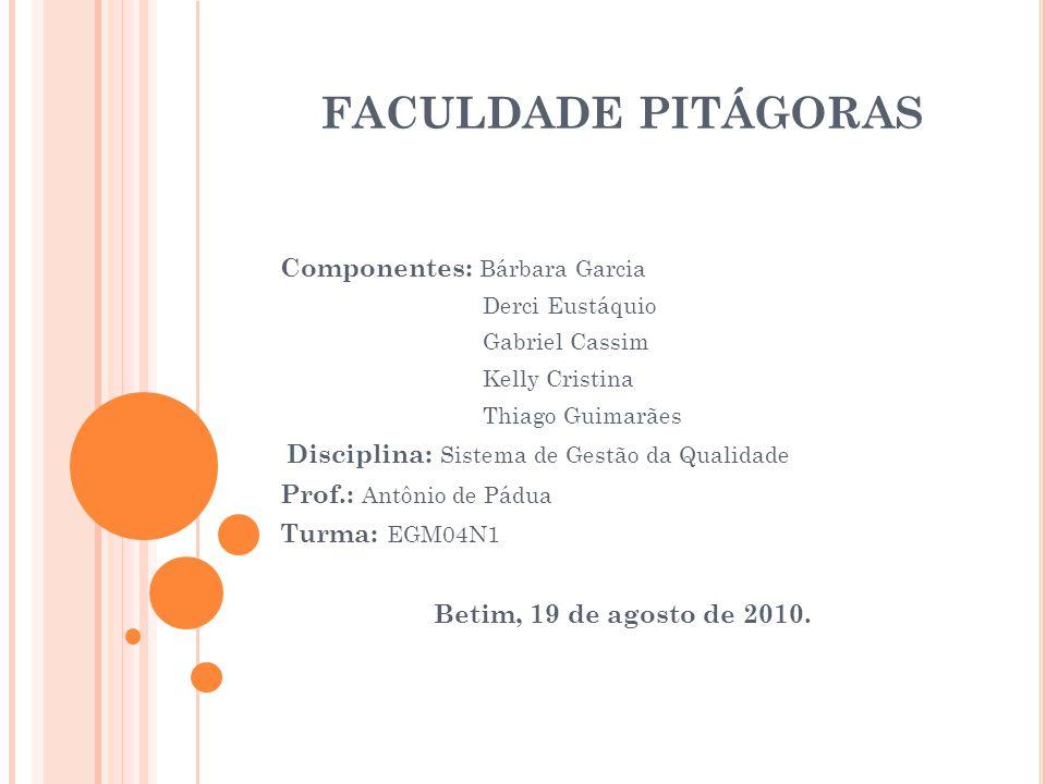 Faculdade Pitágoras Componentes: Bárbara Garcia