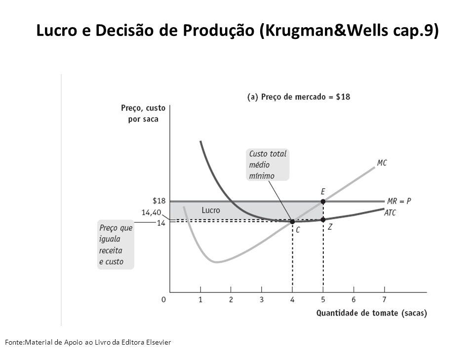 Lucro e Decisão de Produção (Krugman&Wells cap.9)