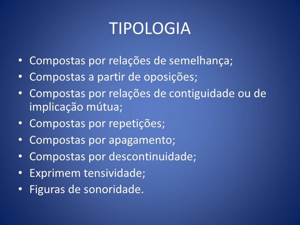 TIPOLOGIA Compostas por relações de semelhança;