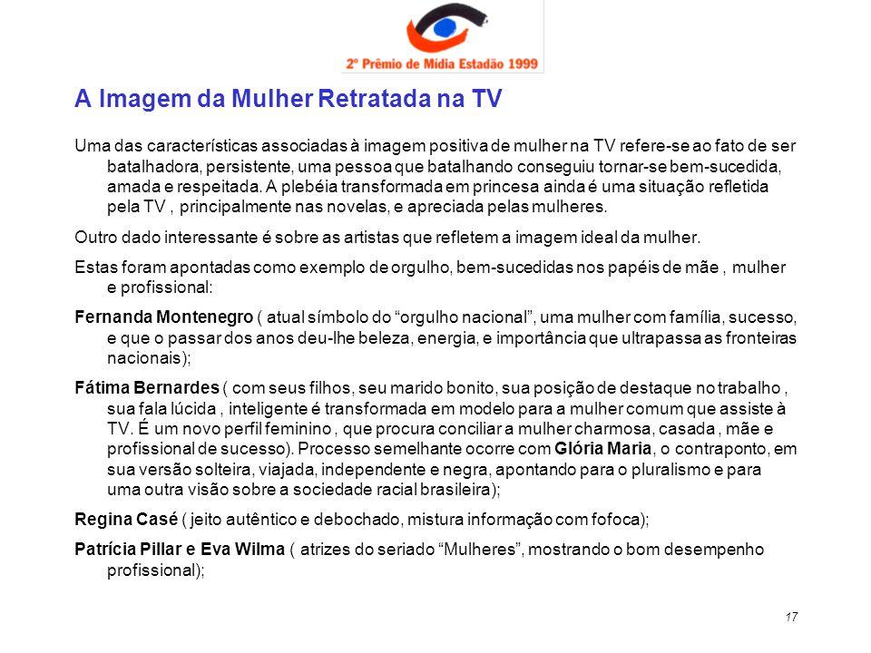 A Imagem da Mulher Retratada na TV