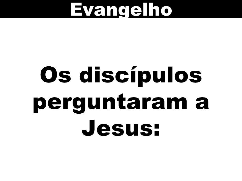 Os discípulos perguntaram a Jesus: