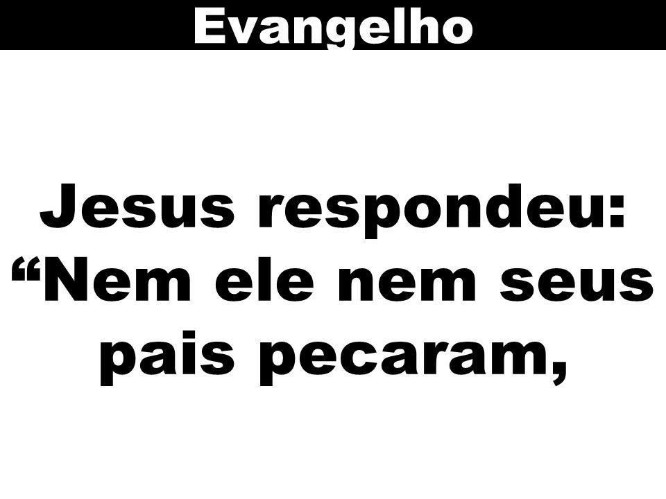 Jesus respondeu: Nem ele nem seus pais pecaram,