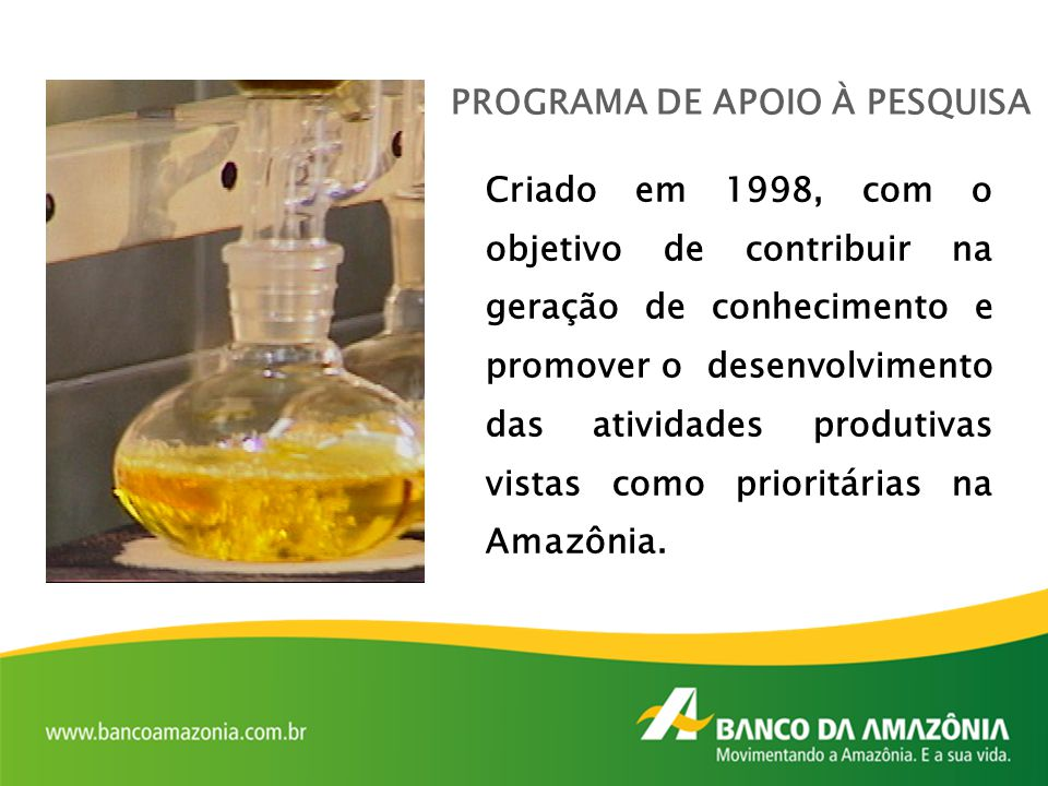 PROGRAMA DE APOIO À PESQUISA