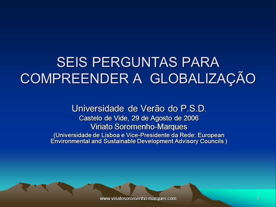 SEIS PERGUNTAS PARA COMPREENDER A GLOBALIZAÇÃO