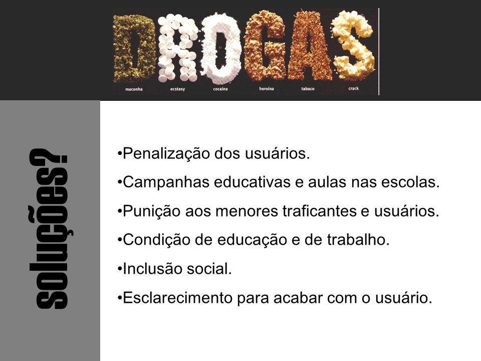 soluções Penalização dos usuários.