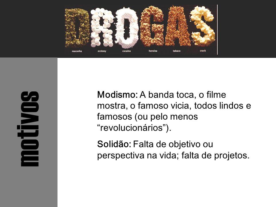 Modismo: A banda toca, o filme mostra, o famoso vicia, todos lindos e famosos (ou pelo menos revolucionários ).