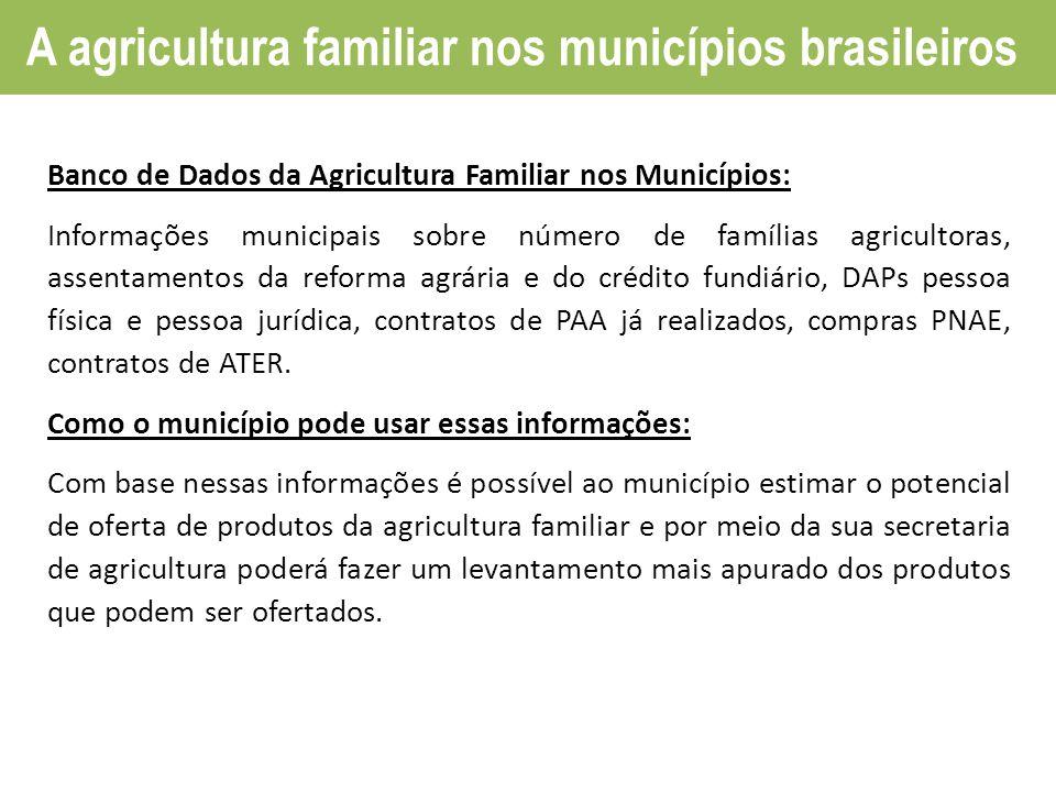 A agricultura familiar nos municípios brasileiros