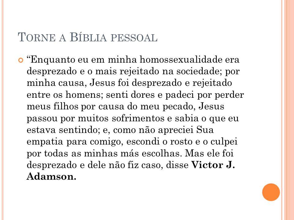 Torne a Bíblia pessoal