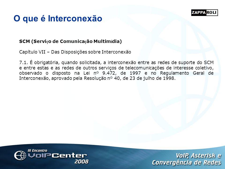 O que é Interconexão SCM (Serviço de Comunicação Multimídia)