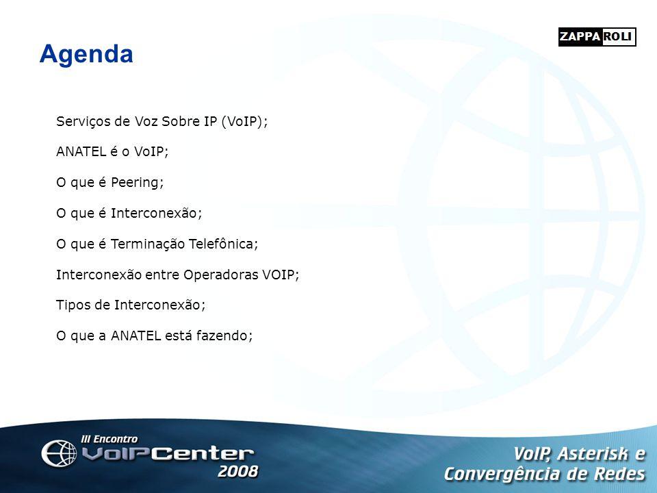 Agenda Serviços de Voz Sobre IP (VoIP); ANATEL é o VoIP;