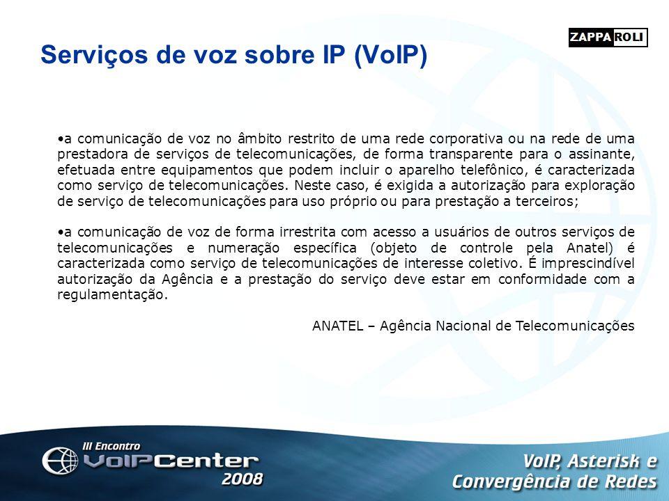 Serviços de voz sobre IP (VoIP)