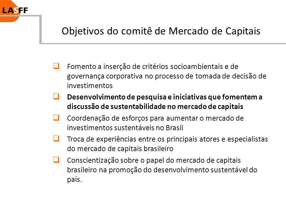 Objetivos do comitê de Mercado de Capitais