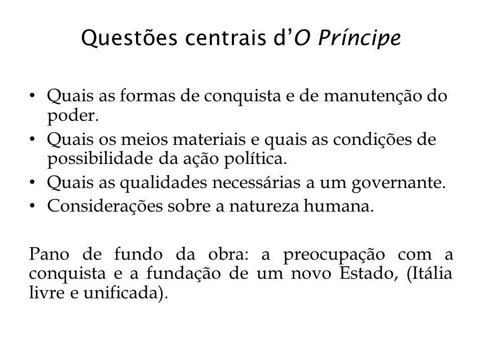 Questões centrais d'O Príncipe