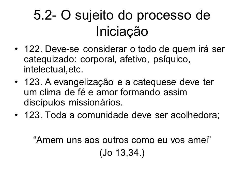 5.2- O sujeito do processo de Iniciação