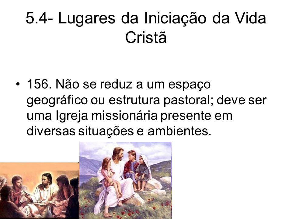 5.4- Lugares da Iniciação da Vida Cristã