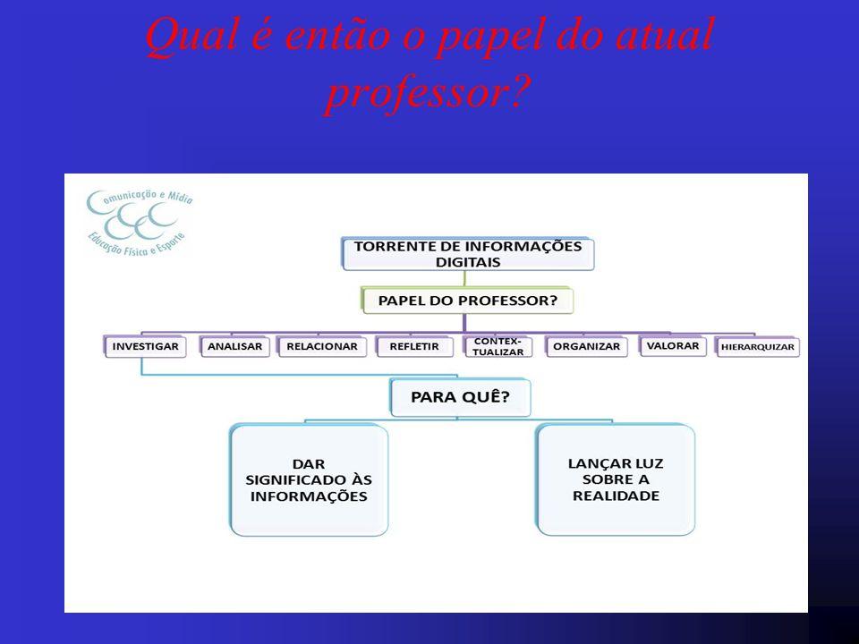 Qual é então o papel do atual professor