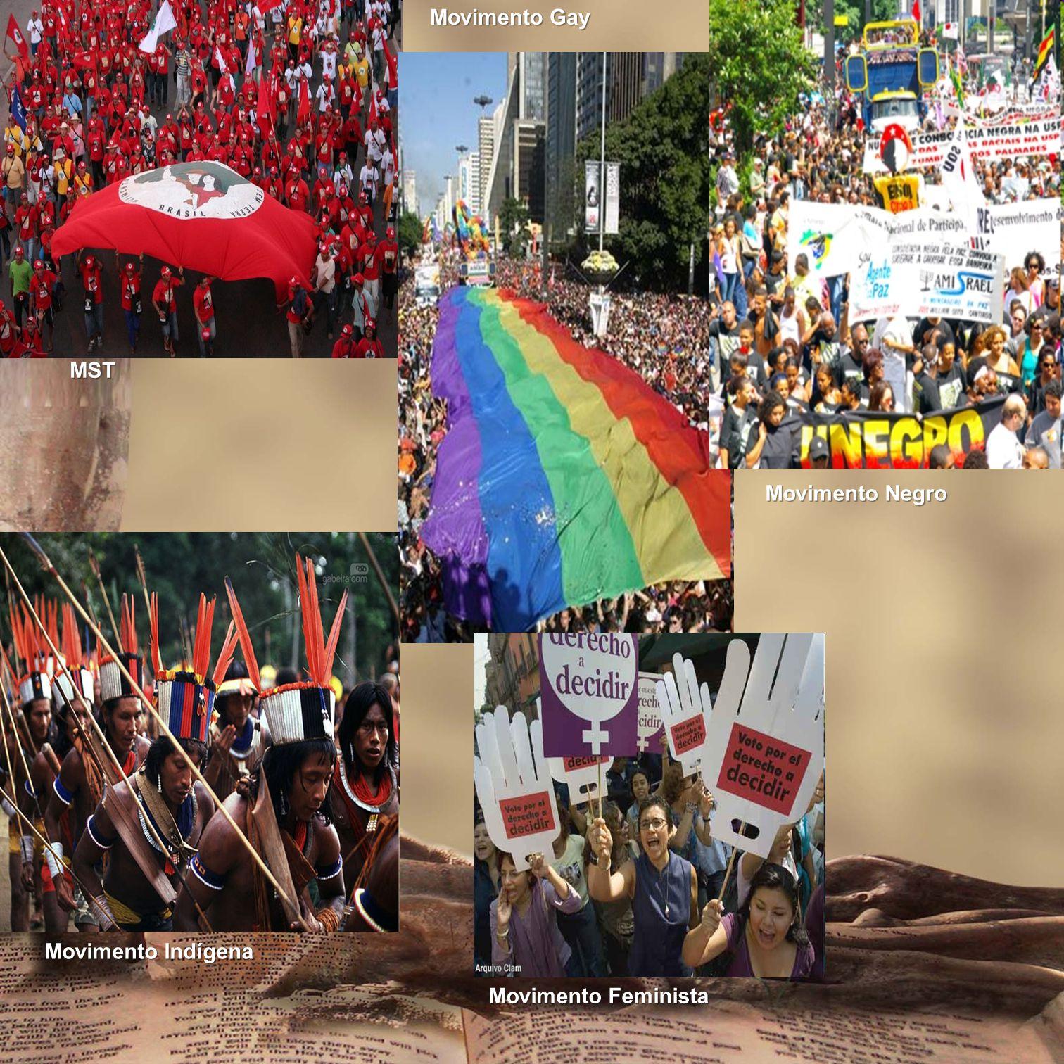 Movimento Gay MST Movimento Negro Movimento Indígena