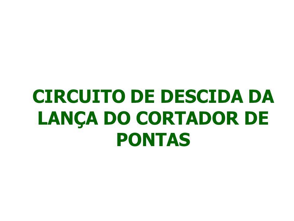 CIRCUITO DE DESCIDA DA LANÇA DO CORTADOR DE PONTAS