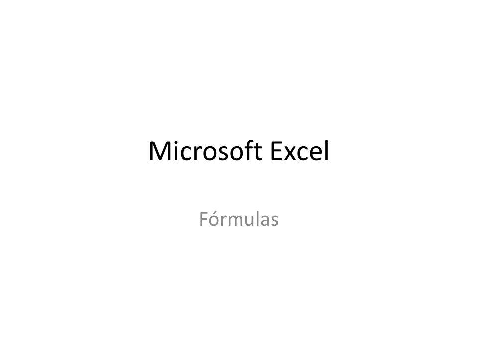 Microsoft Excel Fórmulas