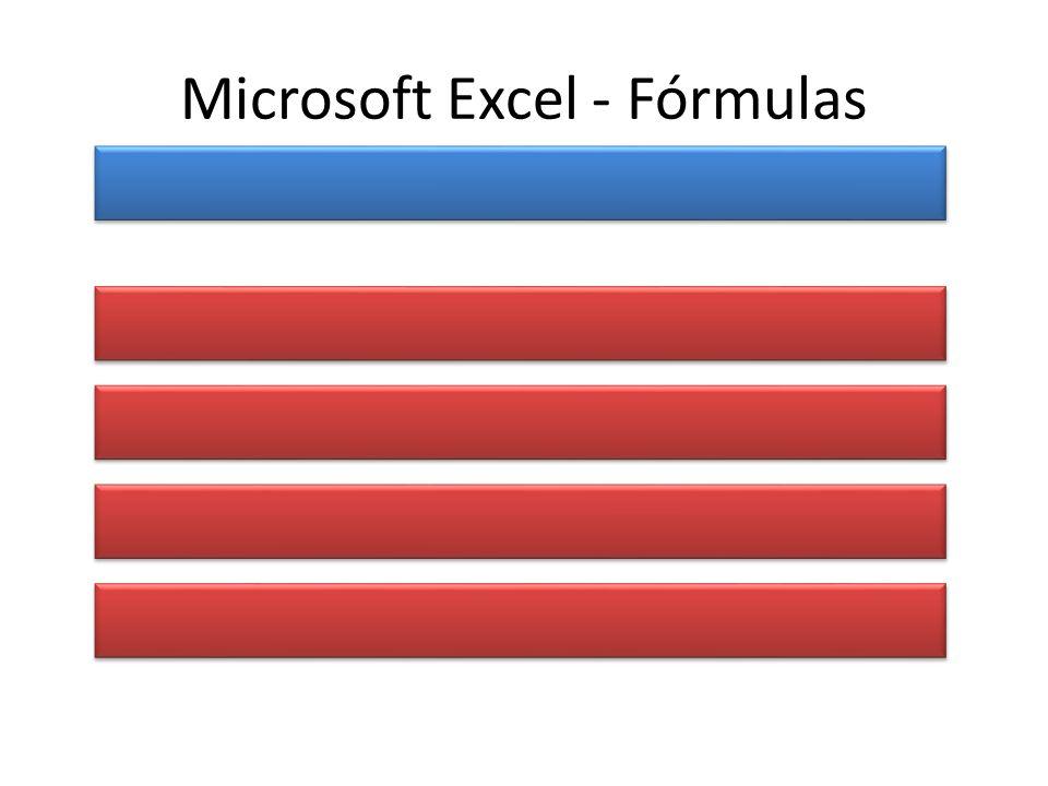 Microsoft Excel - Fórmulas