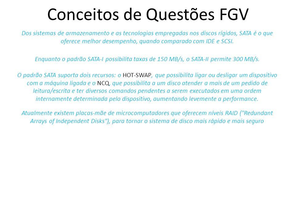 Conceitos de Questões FGV