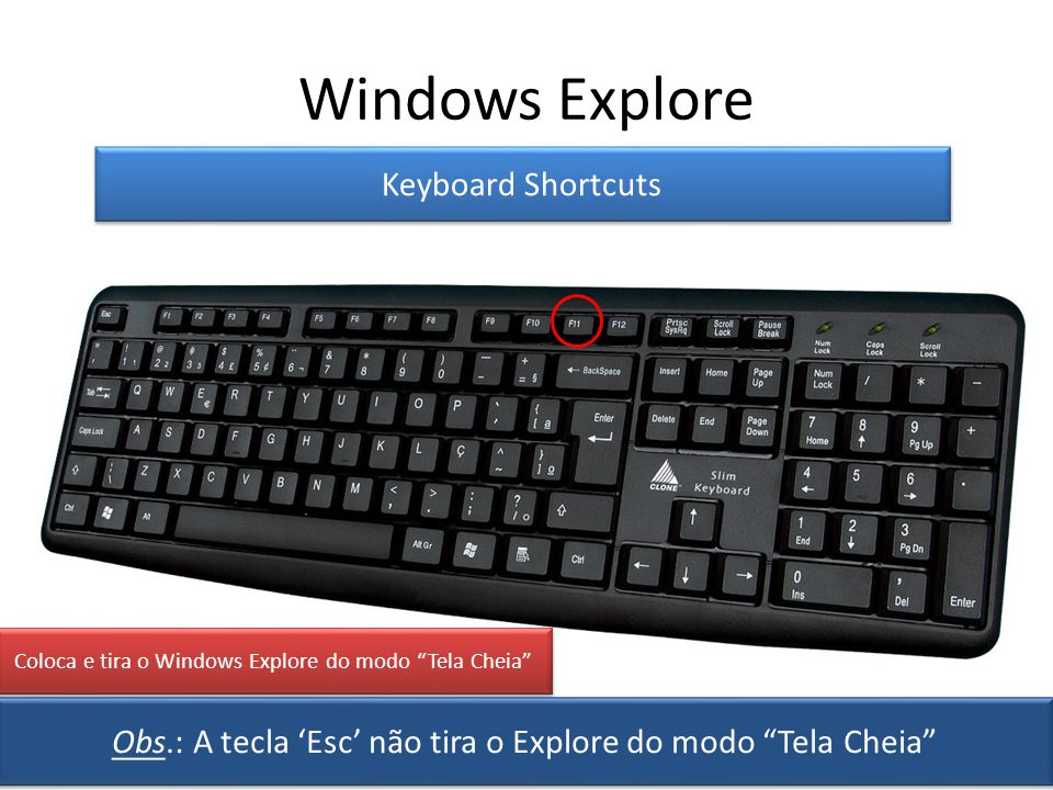 Windows Explore Keyboard Shortcuts