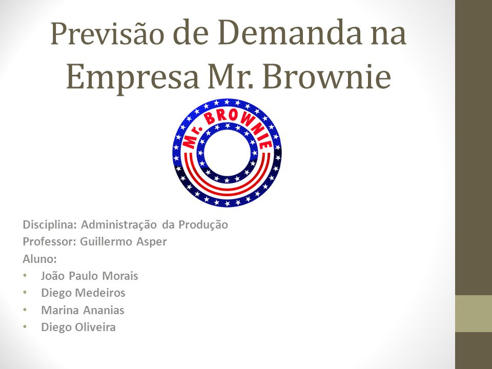 Previsão de Demanda na Empresa Mr. Brownie