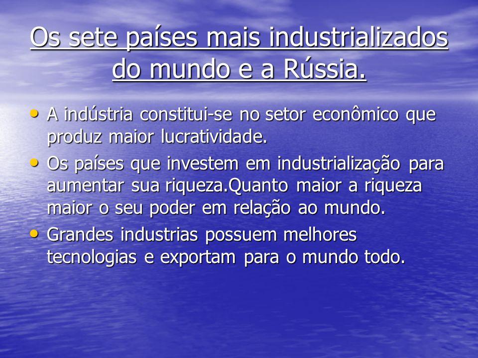 Os sete países mais industrializados do mundo e a Rússia.