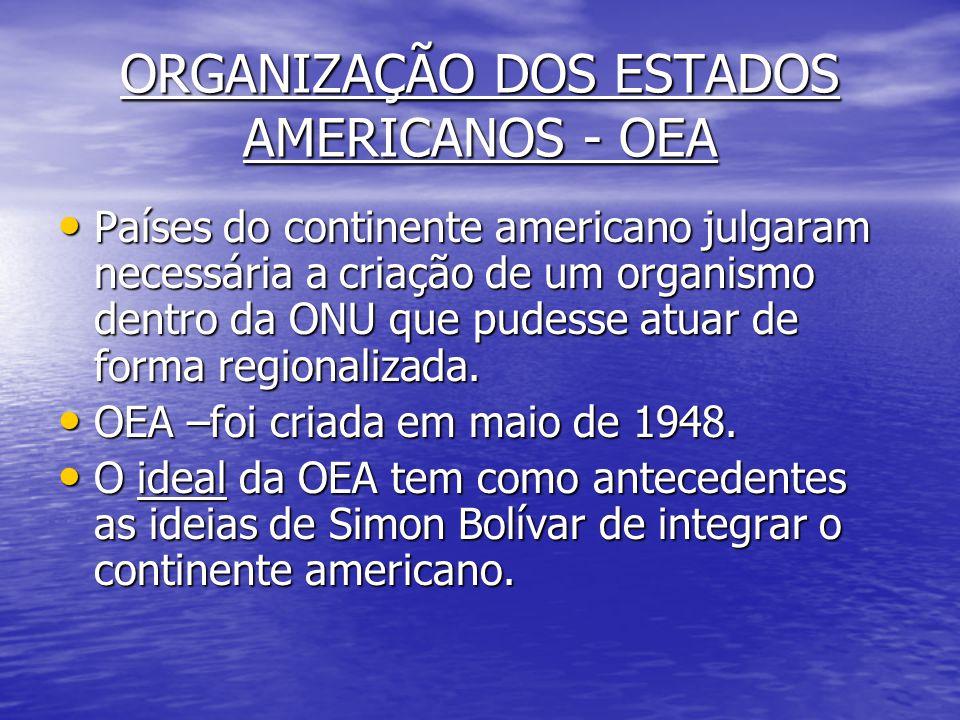 ORGANIZAÇÃO DOS ESTADOS AMERICANOS - OEA
