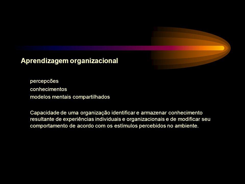Aprendizagem organizacional percepcões