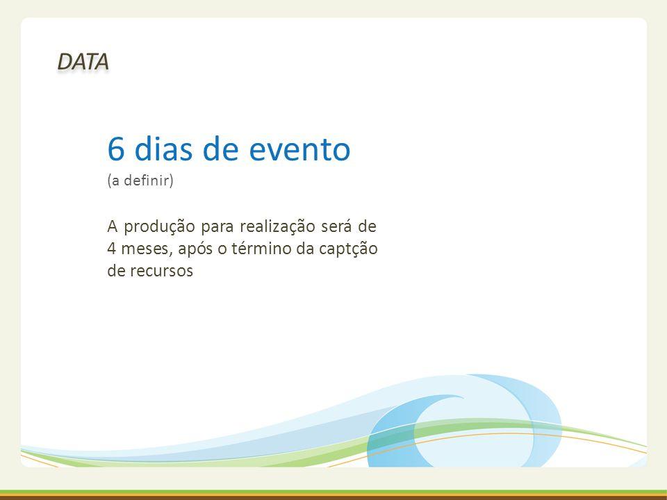 6 dias de evento (a definir)