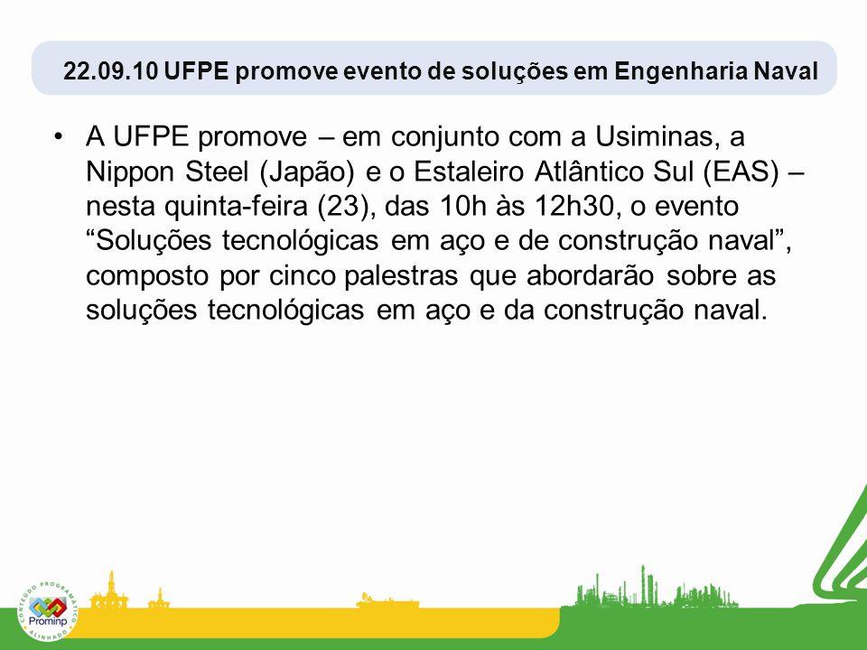 22.09.10 UFPE promove evento de soluções em Engenharia Naval