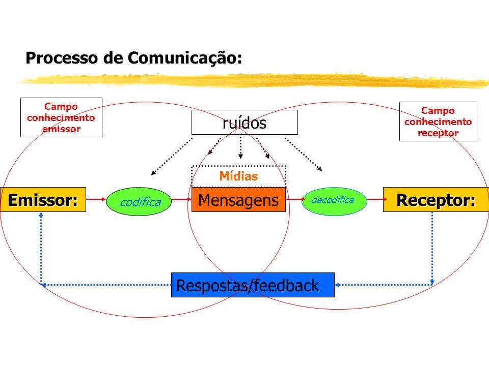 Campo conhecimento emissor Campo conhecimento receptor