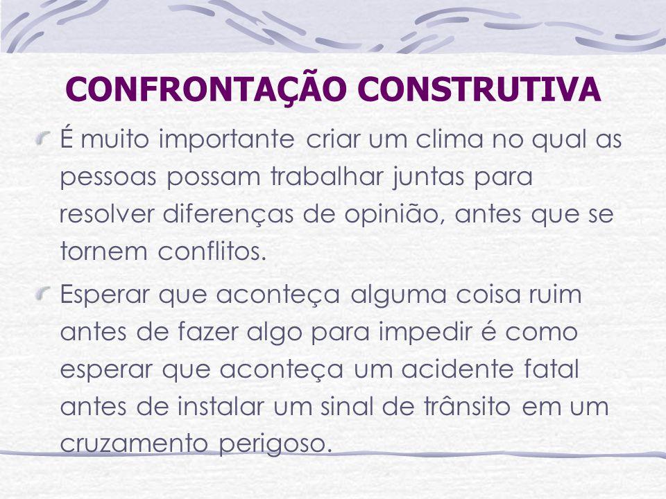 CONFRONTAÇÃO CONSTRUTIVA