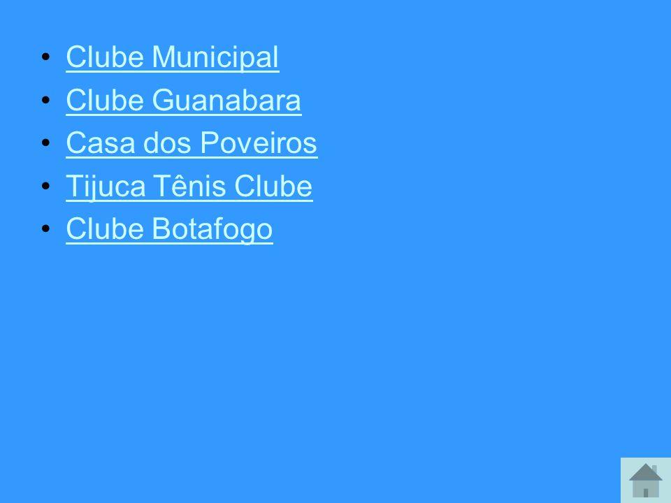 Clube Municipal Clube Guanabara Casa dos Poveiros Tijuca Tênis Clube Clube Botafogo