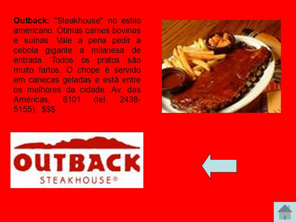 Outback: Steakhouse no estilo americano