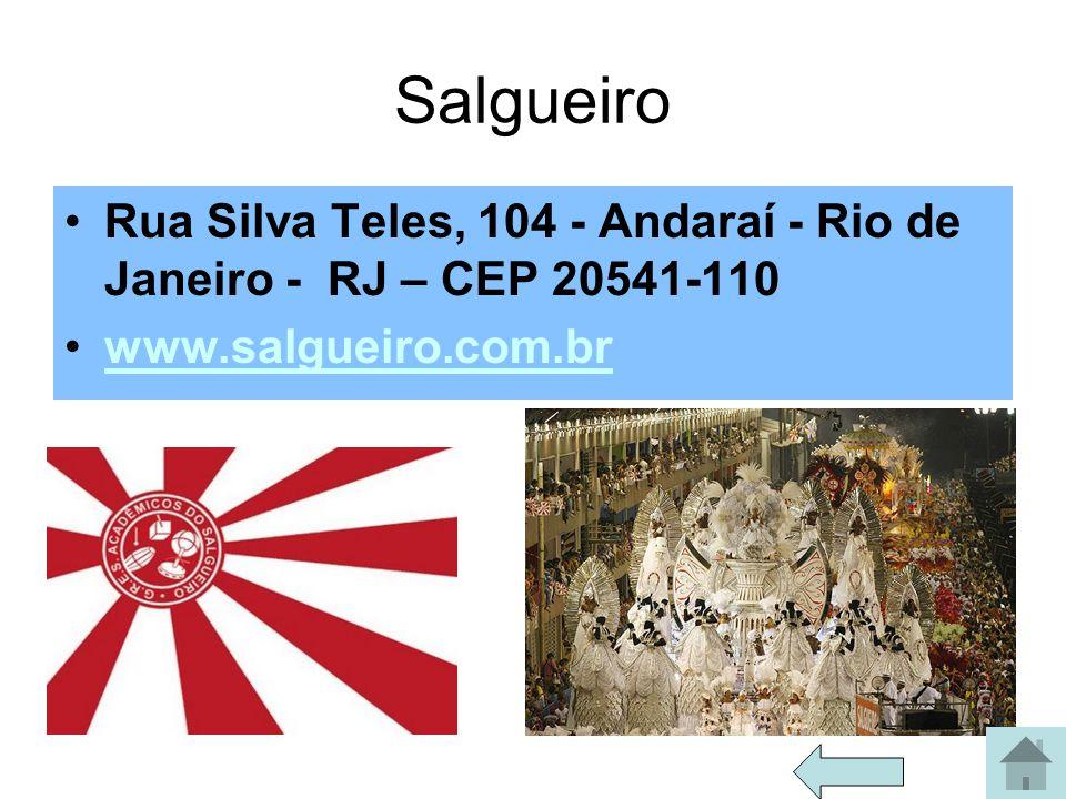 Salgueiro Rua Silva Teles, 104 - Andaraí - Rio de Janeiro - RJ – CEP 20541-110.