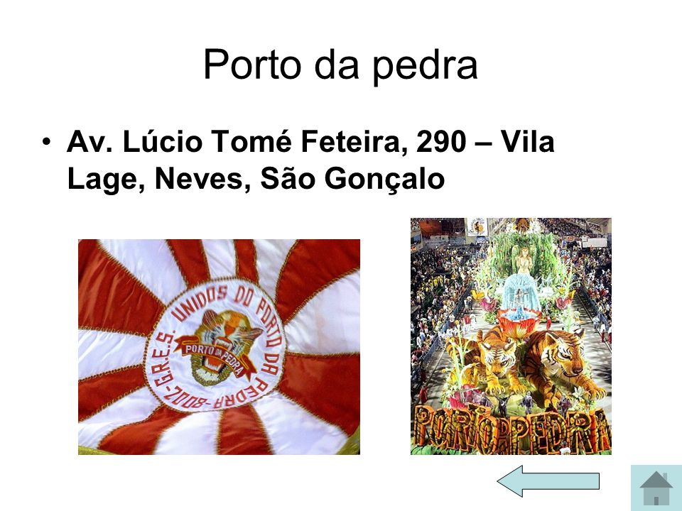 Porto da pedra Av. Lúcio Tomé Feteira, 290 – Vila Lage, Neves, São Gonçalo