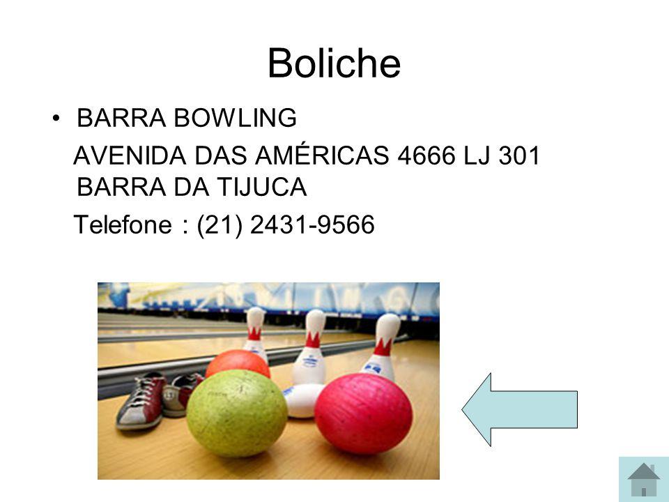 Boliche BARRA BOWLING AVENIDA DAS AMÉRICAS 4666 LJ 301 BARRA DA TIJUCA