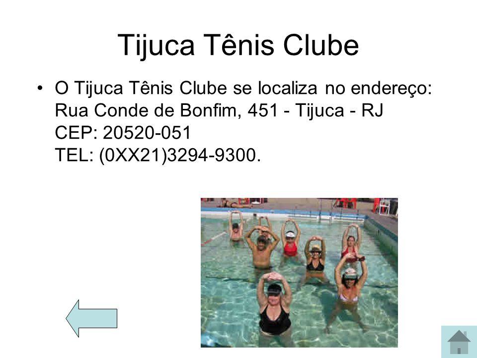 Tijuca Tênis Clube O Tijuca Tênis Clube se localiza no endereço: Rua Conde de Bonfim, 451 - Tijuca - RJ CEP: 20520-051 TEL: (0XX21)3294-9300.