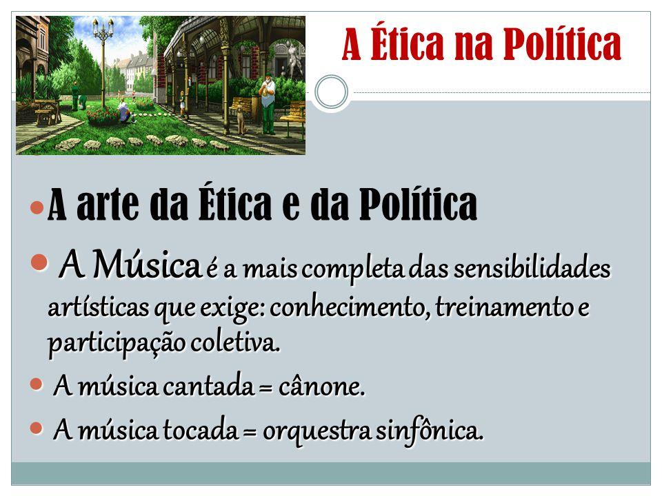 A Ética na Política A arte da Ética e da Política.