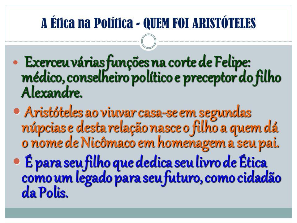 A Ética na Política - QUEM FOI ARISTÓTELES