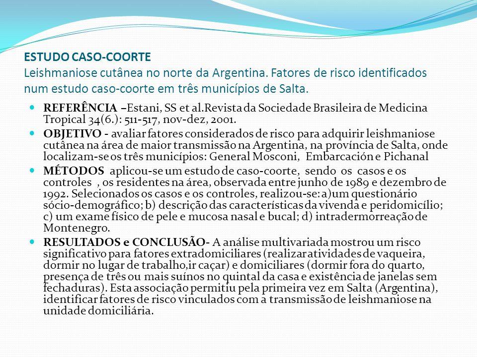 ESTUDO CASO-COORTE Leishmaniose cutânea no norte da Argentina