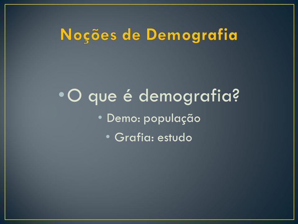 O que é demografia Noções de Demografia Demo: população