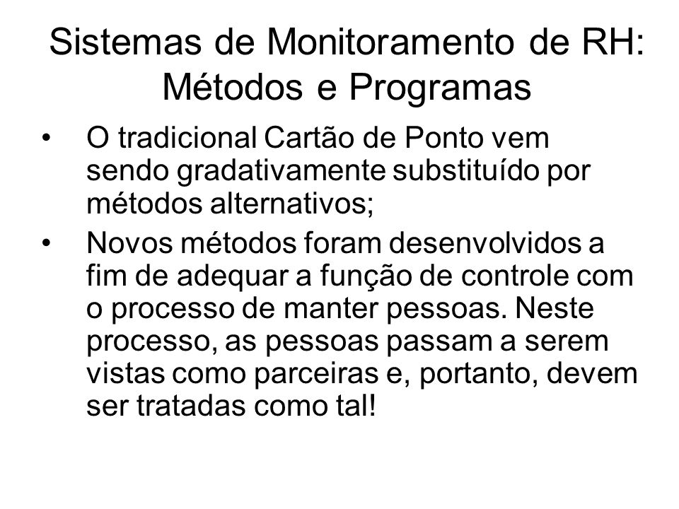 Sistemas de Monitoramento de RH: Métodos e Programas