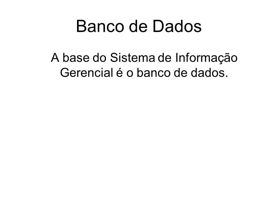 A base do Sistema de Informação Gerencial é o banco de dados.