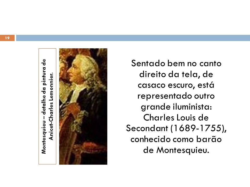 Montesquieu – detalhe da pintura de Anicet-Charles Lemonnier.
